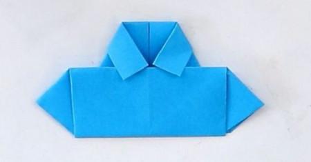 衬衫手工折纸步骤图解 手工折纸-第1张