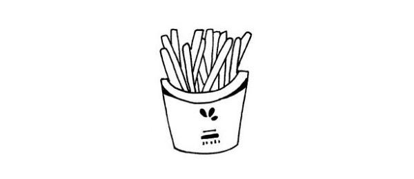 简单的薯条简笔画画法 初级简笔画教程-第1张