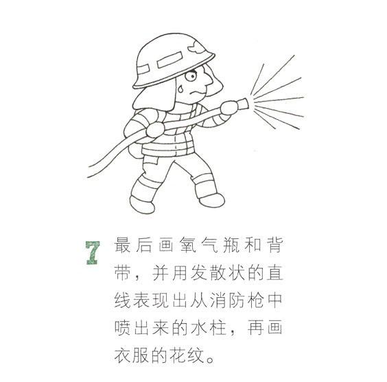 儿童简笔画消防员画法教程 中级简笔画教程-第8张