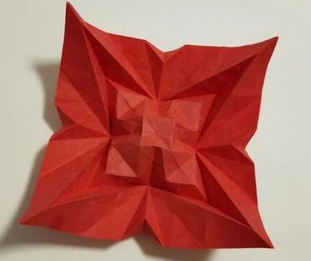 胜利花折纸方法 手工折纸-第1张