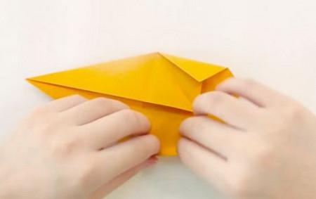小猫立体折纸步骤图解法 手工折纸-第3张