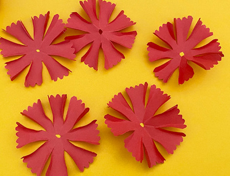 儿童手工折纸康乃馨花教程 手工折纸-第9张