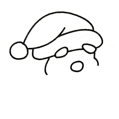 教小朋友画圣诞老人简笔画 中级简笔画教程-第3张