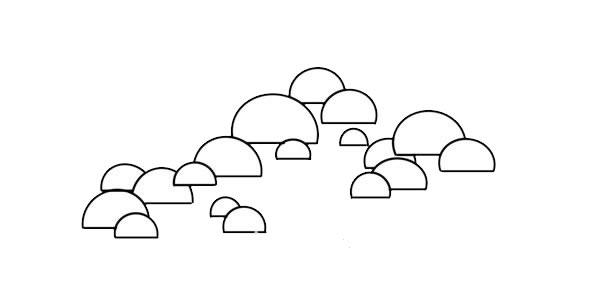 彩色松树儿童简笔画画法 中级简笔画教程-第3张