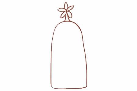 面包树简笔画画法步骤 中级简笔画教程-第3张