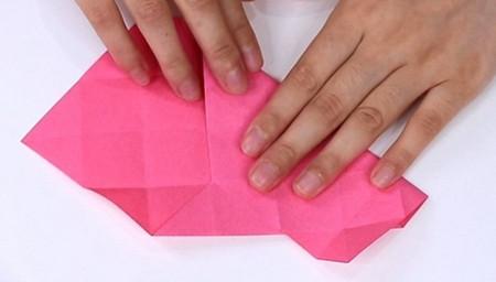儿童手工折纸心形盒子的折法图解 手工折纸-第6张