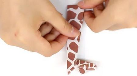 长颈鹿儿童手工折纸步骤图详解 手工折纸-第8张