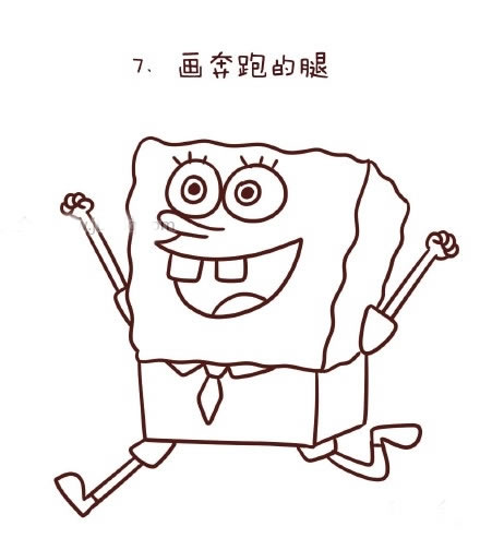 教你画海绵宝宝简笔画 中级简笔画教程-第8张