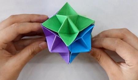 儿童手工折纸花球步骤图解 手工折纸-第1张