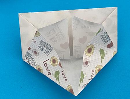 皇冠帽子折纸步骤图解 手工折纸-第11张