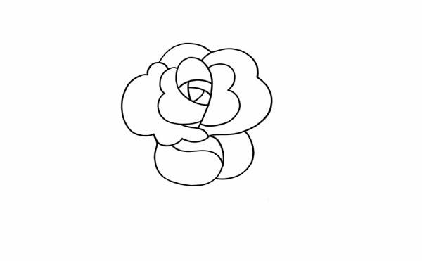 七夕一支玫瑰花简笔画图片