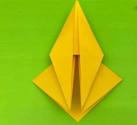 乌鸦手工折纸步骤图解 手工折纸-第7张