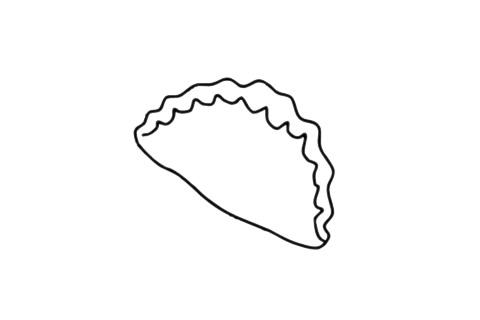 饺子简笔画图片