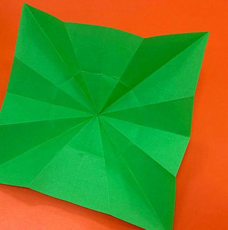 降落伞折纸方法图片大全 手工折纸-第8张
