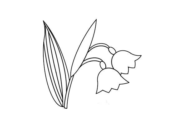 彩色的铃兰花简笔画 中级简笔画教程-第5张