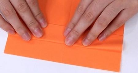 伸缩扇子的折法图解 手工折纸-第5张