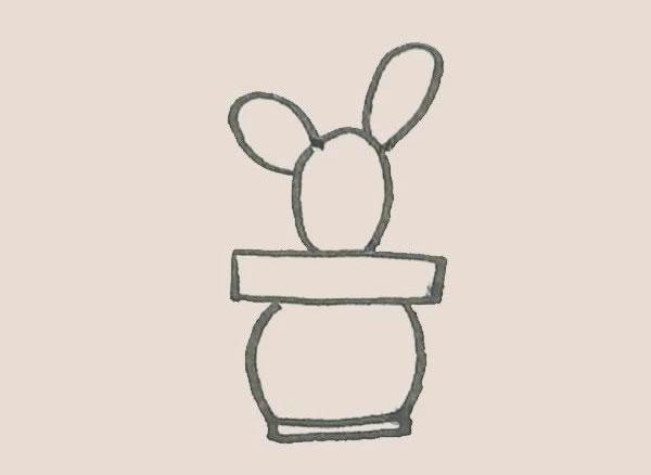 儿童简笔画仙人掌画法 初级简笔画教程-第5张