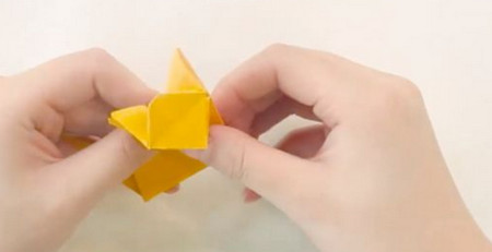 小猫立体折纸步骤图解法 手工折纸-第12张