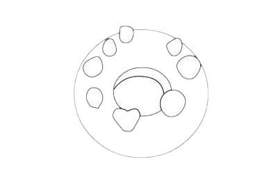 甜甜圈简笔画图片大全作品五