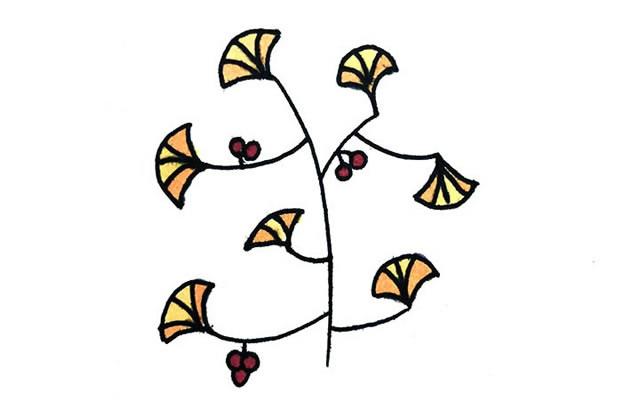 创意树木简笔画图画大全 植物-第2张