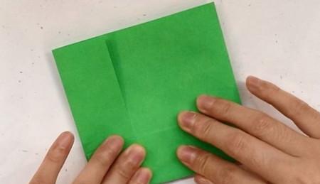 树叶信封折纸的折法图解 手工折纸-第4张