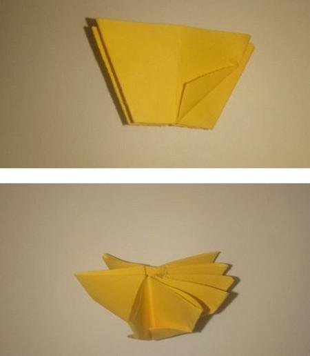 折纸太阳花步骤图解 手工折纸-第7张
