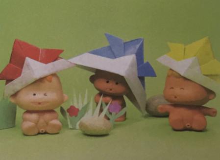 折纸头盔的步骤图解法 手工折纸-第1张