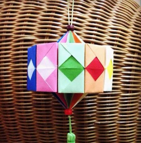折纸灯笼立体简单做法 手工折纸-第14张