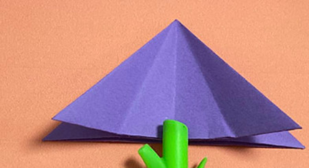 牵牛花折纸步骤图解法 手工折纸-第5张