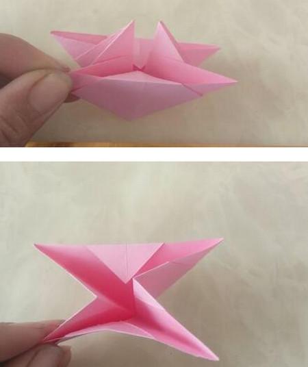 折纸陀螺步骤图 手工折纸-第7张