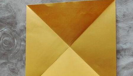 正方形纸盒子的折法步骤 手工折纸-第4张