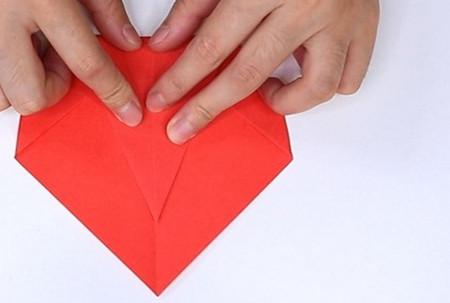 用纸折扇子的方法步骤图片 手工折纸-第6张