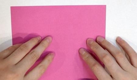 长方形信封的折法图解 手工折纸-第2张