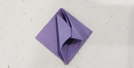 郁金香手工折步骤图解 手工折纸-第8张