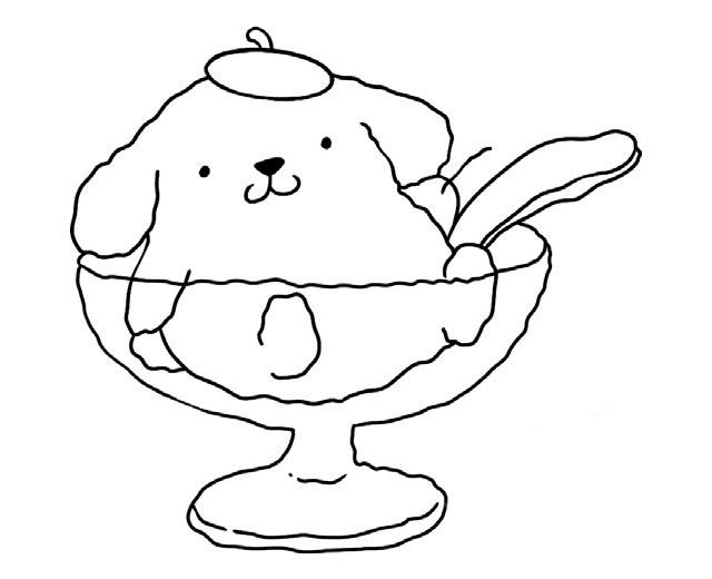 小狗冰激凌简笔画