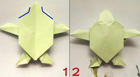 折纸乌龟的折法图解 手工折纸-第1张
