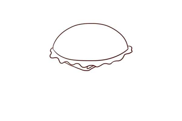 汉堡包简笔画