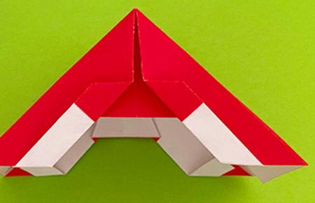 帐篷折纸方法图解 手工折纸-第1张