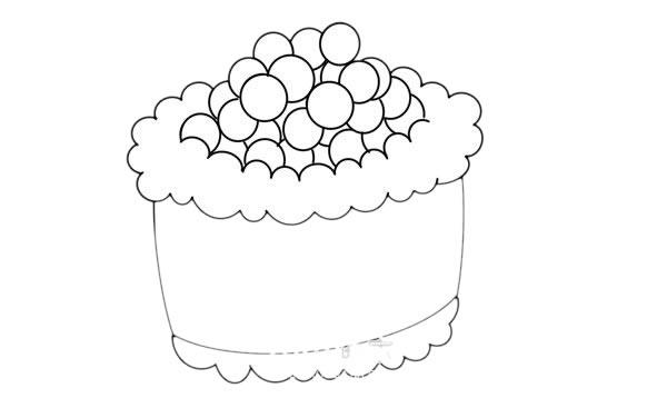 简单的寿司画法 寿司简笔画步骤图片