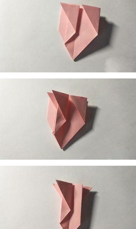 五角星花折纸教程图解 手工折纸-第9张
