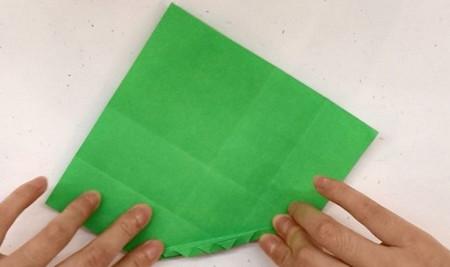 树叶信封折纸的折法图解 手工折纸-第5张