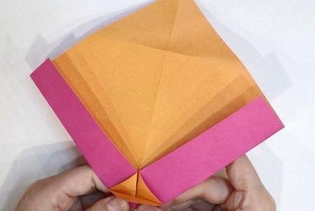 长方形信封的折法图解 手工折纸-第5张