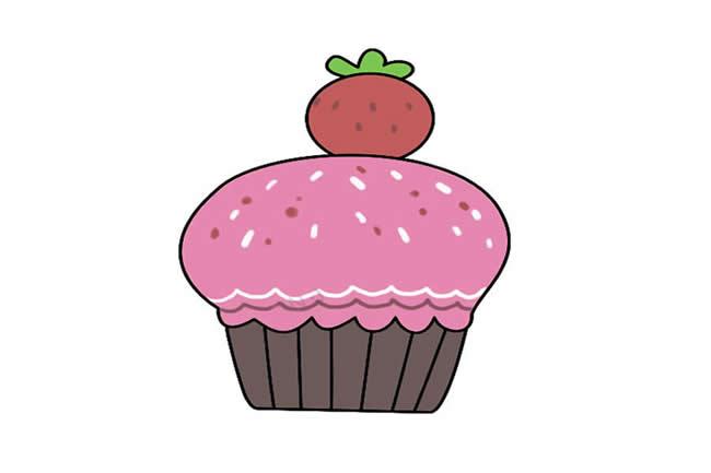 草莓蛋糕简笔画