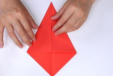 用纸折扇子的方法步骤图片 手工折纸-第3张