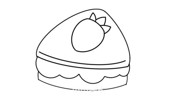 三明治怎么画简单又漂亮 草莓三明治简笔画步骤图片大全
