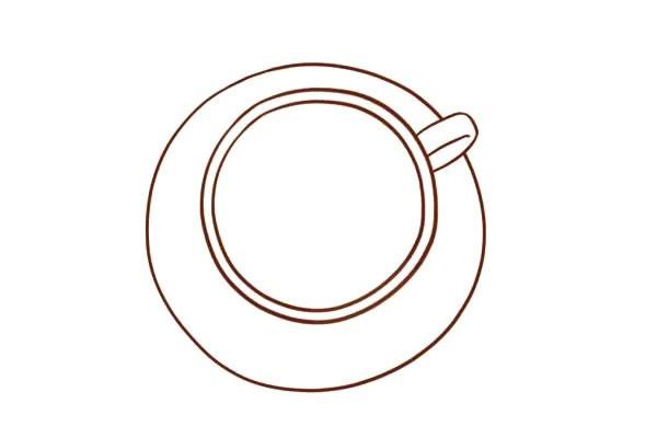 咖啡简笔画