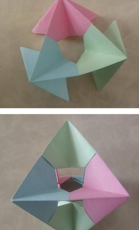折纸陀螺步骤图 手工折纸-第1张