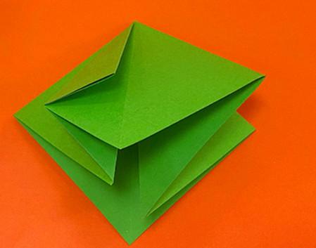 降落伞折纸方法图片大全 手工折纸-第4张