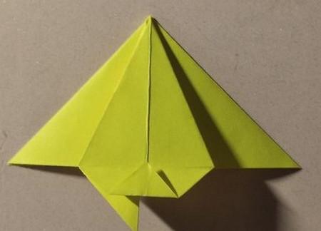三角书签的折法图解 手工折纸-第7张