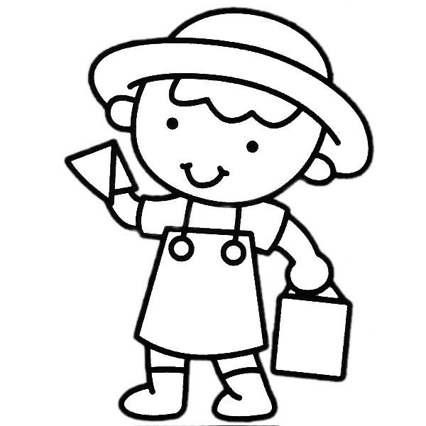 工人儿童简笔画图片 人物-第2张